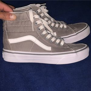 Grey high top vans. Literally only wore like twice